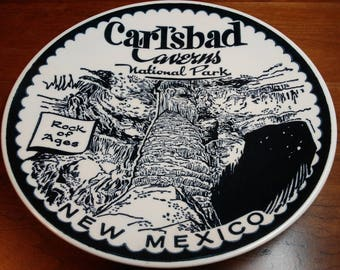 Carlsbad Cavern New Mexico Ironstone plate