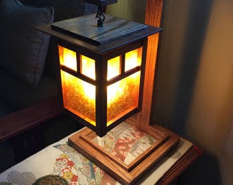 Mission/Craftsman Style Lantern table lamp