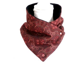 Fabric Snood couture rust stir woman