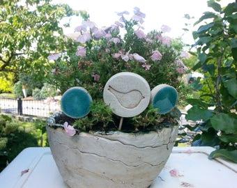 Garden Plug Bird Ceramics Garden
