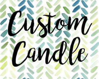 Custom bookish candle