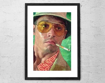 Fear and Loathing in Las Vegas - Johnny Depp - Painting - Hunter S Thompson - Movie Poster - Cult Movie - Fear and Loathing Art - Film Print