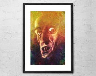 Nosferatu - Painting - F.W. Murnau's Nosferatu - Max Schreck - Horror Movie - Limited Edition - Horror Decor - Horror Art - Nosferatu Poster