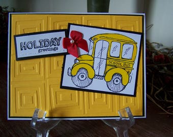 Holiday Bus Driver Greeting Card