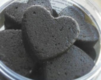 Sugar scrub, Sandalwood sugar scrubs, exfoliating, sugar scrub hearts, moisturizing