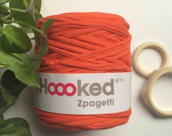 Autumn Orange* Hoooked zpagetti t shirt yarn, 120 meters, recycled cotton yarn, knitting supplies, crochet, weaving supplies