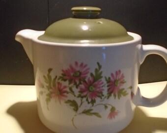 Petite Fleur Teapot White/Green, Lidded Teapot, Afternoon Tea, White Teapot, Tea Party, Tea Lover, Ceramic Teapot, Teapot Collector, Vintage