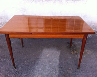 French Vintage Folding Dining Table 1950's