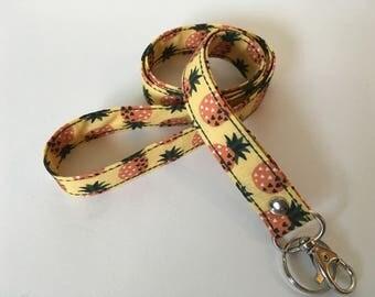 Pineapple lanyard, Swivel clip ID holder, Neck strap, Badge holder, Key lanyard, Key swivel