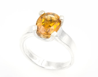 Silver ring - Natural citrine of 2.40 ct. - Size 13 (ES)