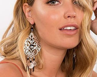 Gypsy Inspired Filigree Earrings