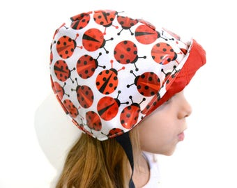 Cycling Cap para rain handmade with ladybugs