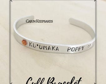 Cuff Bracelet | Custom | Personalized Handstamped Jewelry | Gifts for her