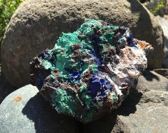 Raw Azurite And Malachite Druzy Smecimen