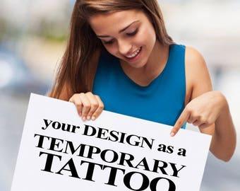 Custom Fake Tattoos for businesses schools sports teams