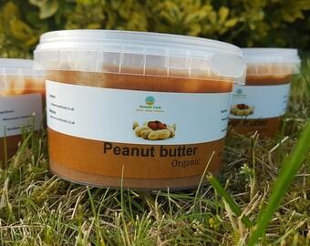 Organic peanut butter, no added oil / sugar