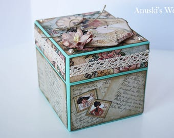 Jewellery box decorated vintage style