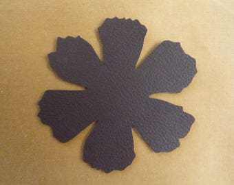 DARK BROWN COLOR LEATHER FLOWER