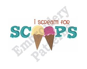 Two Ice Creams - Machine Embroidery Design