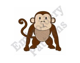 Funny Monkey - Machine Embroidery Design
