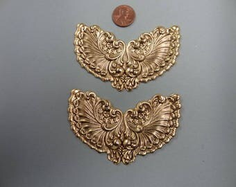 2 - Gold Plated Angel Wings