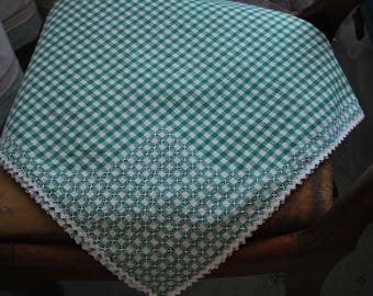 Tablecloth - Green and White Gingham