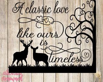 love svg; deer svg; silhouette cut file; cricut cut file; silhouette svg; cricut svg; cut file