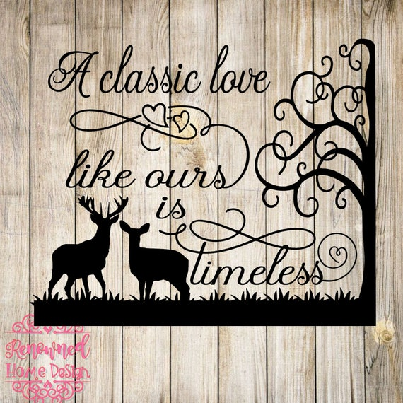 Download love svg deer svg silhouette cut file cricut cut file