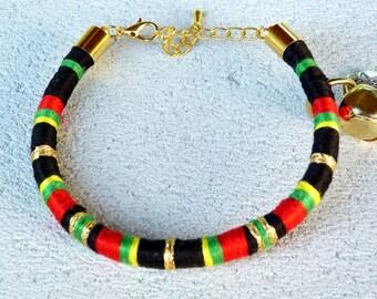 Cat collar,Kitten collar small dog collar, puppy collar, kitten necklace, puppy necklace, pet accessory, rasta colours.