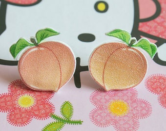 Peach Studded Earrings