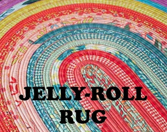 Jelly Roll Rug Pattern - Roma Lambsom for Rj Designs #RDJ100 - Jelly Roll Friendly Pattern - Rug Pattern - Fabric Strip Rug Pattern