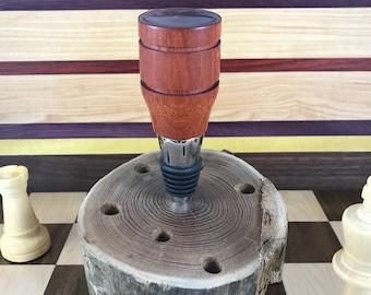 Bloodwood Bottle Stopper