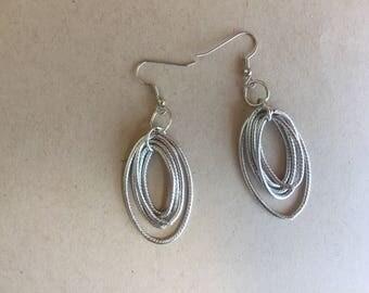 dangle earring,light weight earring,silver earring,earrings,long earring,blue earring,drop earring,earring