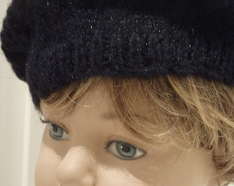 Black Knitted Beret
