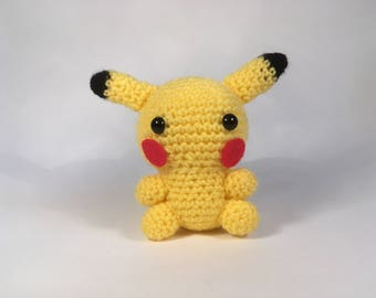 Crocheted Pikachu Plush