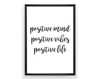 Typography Print, Positive Quote Print, Home Decor Wall Art, Quote Wall Art, Inspirational Quote Prints , Quote Printable, Positive  Print,
