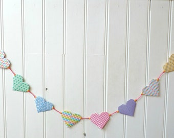 "Origami Garland - colorful hearts graphic print - collection ""The graphic is Chic!"""