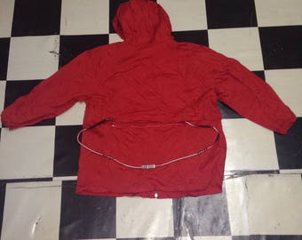 Very rare item and authentic bally hoodie windbreaker jacket