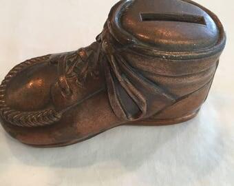 Bronze Baby Shoe Bank