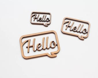 Hello!  - 3 Wooden pieces to decorate or make any type of crafts.