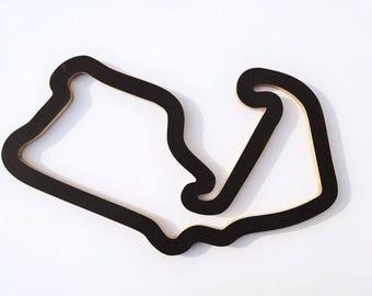 F1 GP Silverstone racing track wall art