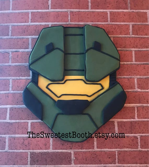 Halo Master Chief Fondant Birthday Cake Topper from TheSweetestBooth