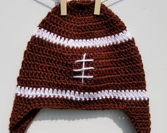 Football hat, crochet football hat, baby hat, toddler hat, children's hat, adult hat