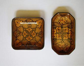 Vintage Ceramic Bowl Set - Vintage Moroccan Ceramic - Moroccan Bowls - Morocco Vintage bowl ceramic - Moroccan Vintage dish
