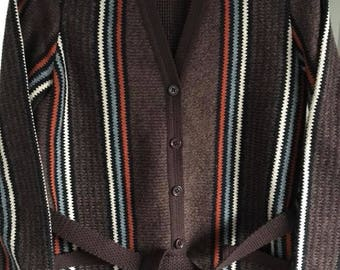 M&S 1970s Cardigan with Pockets and Belt