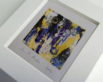 Painting 10 cm x 10 cm-Original abstract acrylic paint. Series small abstract acrylic paintings..