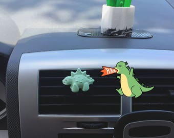 Cute Dinosaurs (BUY3GET1FREE),Natural air freshener,deodorizer,diffuser,reusable,scented plaster,vent clip,car accessories,wedding favors