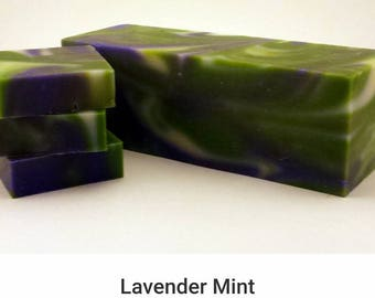 Lavender Mint  olive oil handmade cold process soap..Wholesale entire loaf!!