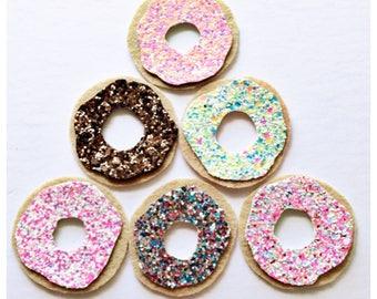 Glitter donut hair clip OR headband