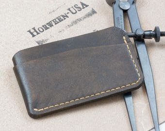 Card Holder // Wallet // Front Pocket Wallet // Full Grain Leather // Minimalist Wallet // Made in USA // Gifts for Him